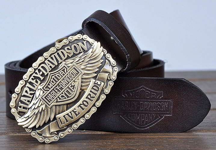 Harley Davidson Gürtel Echt Original Leder 3 Farben en Fan Neu Liebhaber Ihn Kleidung & Accessoires