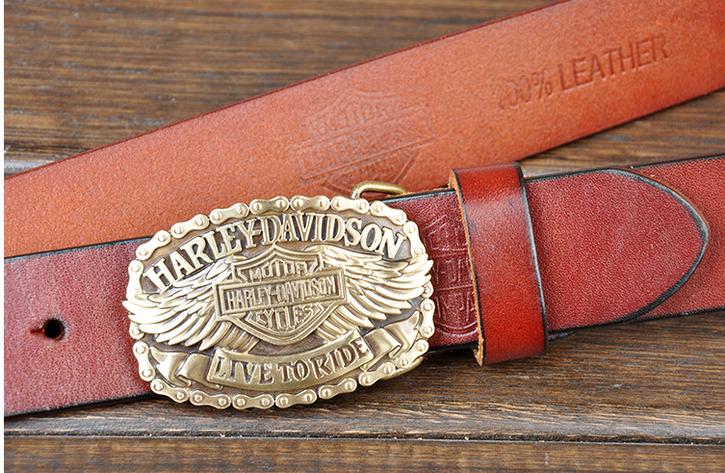 Harley Davidson Gürtel Echt Original Leder 3 Farben en Fan Neu Liebhaber Ihn Kleidung & Accessoires 4