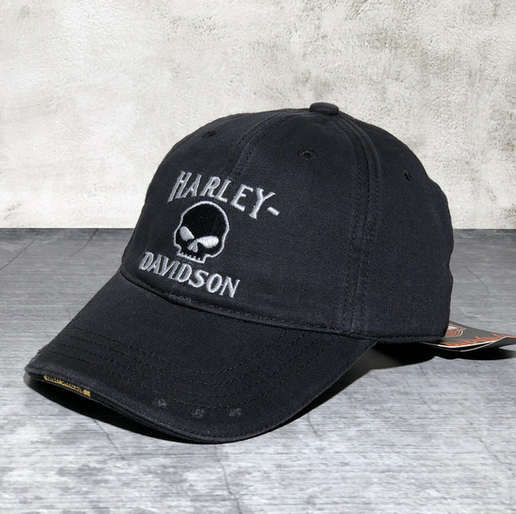 Harley-Davidson Harley Cap Fan HD Schwarz Biker Kappe Baseball Mütze Kleidung & Accessoires