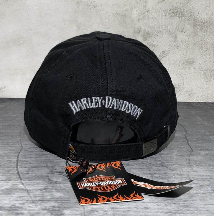 Harley-Davidson Harley Cap Fan HD Schwarz Biker Kappe Baseball Mütze Kleidung & Accessoires 3