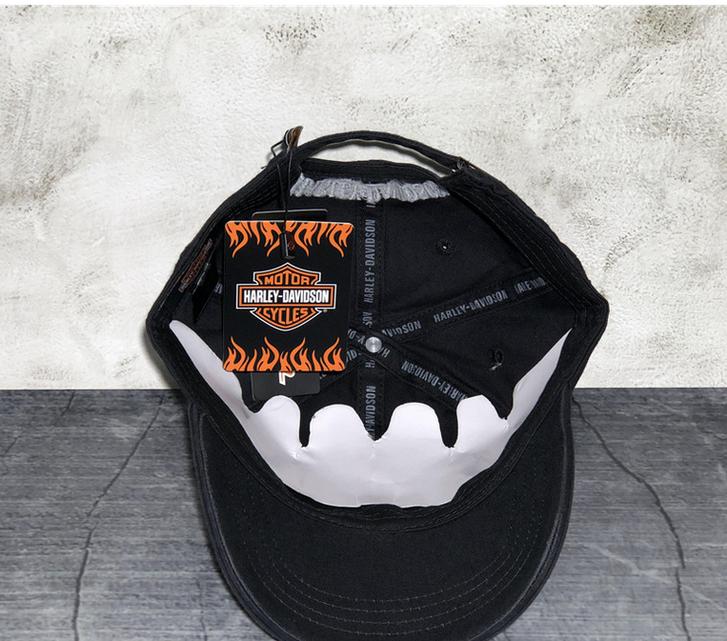 Harley-Davidson Harley Cap Fan HD Schwarz Biker Kappe Baseball Mütze Kleidung & Accessoires 4