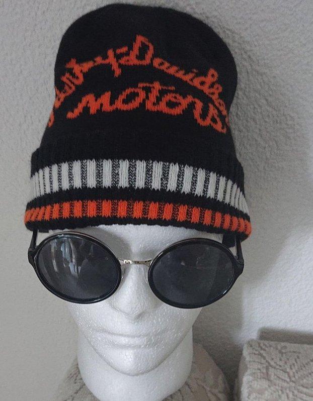 Harley-Davidson Motorcycles Fan Winter Mütze Wintermütze Harley Kappe Beanie Original Biker HD Kleidung & Accessoires