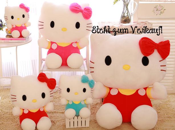 Hello Kitty Hellokitty Katze Plüsch Plüschtier XXL Plüschfigur Kuscheltier Geschenk Mädchen HK Spielzeuge & Basteln 2