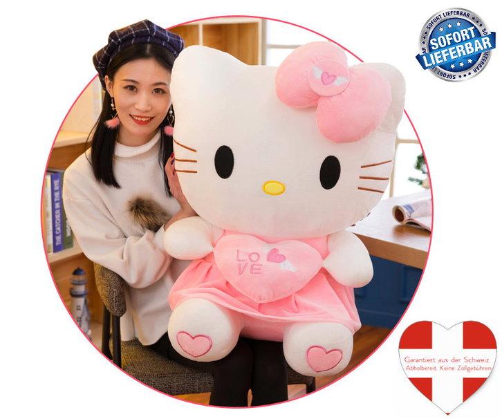 Hello Kitty Hellokitty Plüsch Cat Plüschtier Herz Love Liebe 70cm Geschenk Girl Mädchen Pink Rosa Baby & Kind