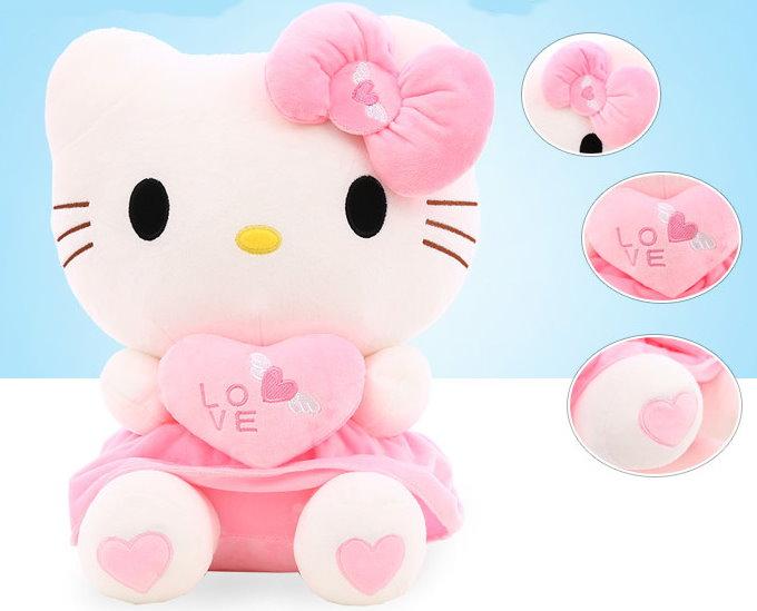 Hello Kitty Hellokitty Plüsch Cat Plüschtier Herz Love Liebe 70cm Geschenk Girl Mädchen Pink Rosa Baby & Kind 2