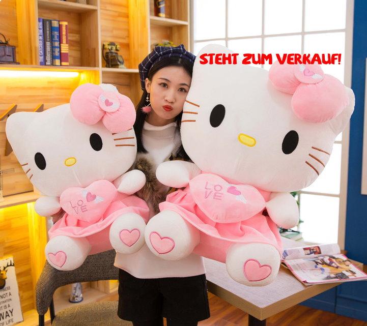 Hello Kitty Hellokitty Plüsch Cat Plüschtier Herz Love Liebe 70cm Geschenk Girl Mädchen Pink Rosa Baby & Kind 3