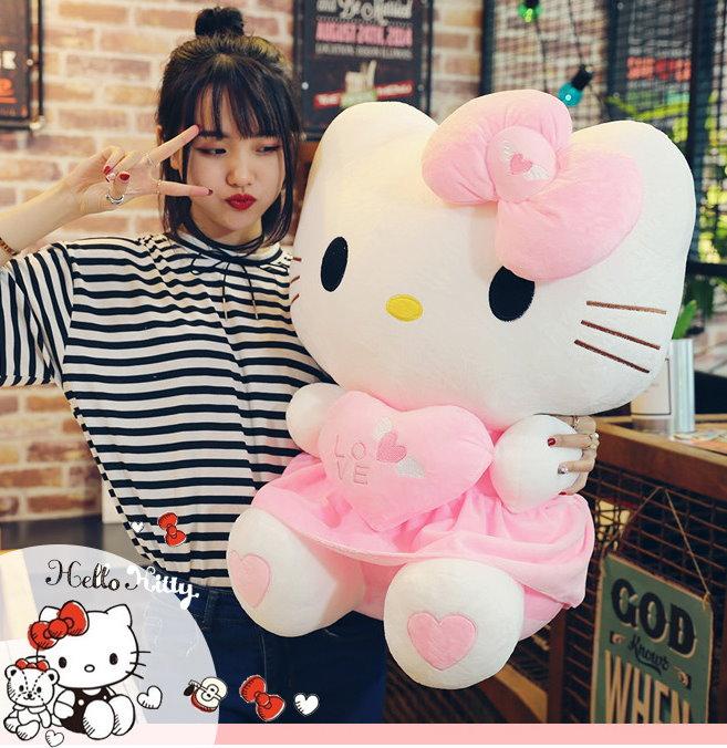 Hello Kitty Helloklitty Plüschtier Katze Pink Rosa XL 70cm Mädchen Kind Geschenk Love Liebe Herz Süss Herzig Härzig Baby & Kind