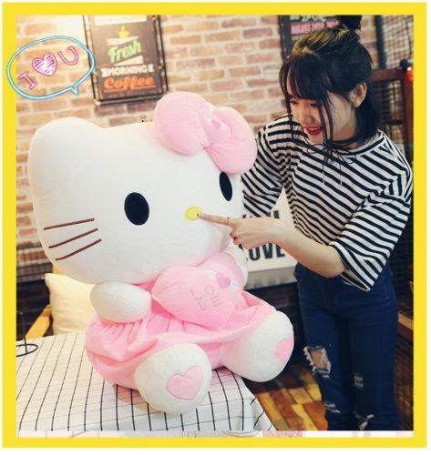 Hello Kitty Helloklitty Plüschtier Katze Pink Rosa XL 70cm Mädchen Kind Geschenk Love Liebe Herz Süss Herzig Härzig Baby & Kind 3