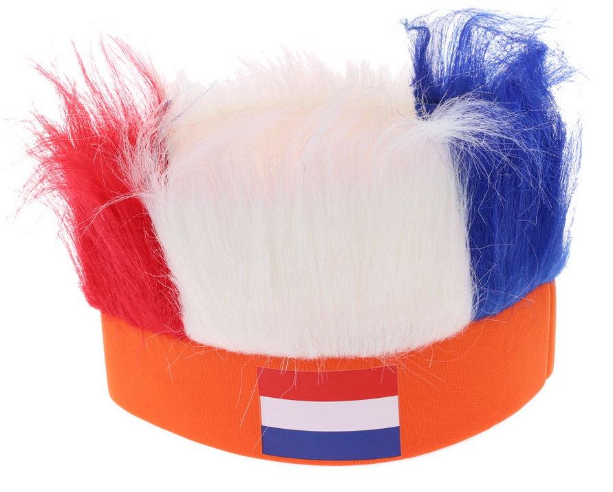 Holland Niederlande Netherland Fan Kappe Mütze Lustig Fun Strubbelhaar Fussball EM WM Party Flagge