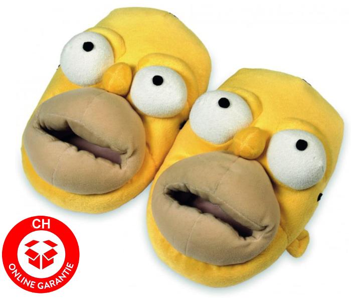 Homer Simpson Hausschuh Pantoffel Fan Accessoire Geschenk Erwachsene