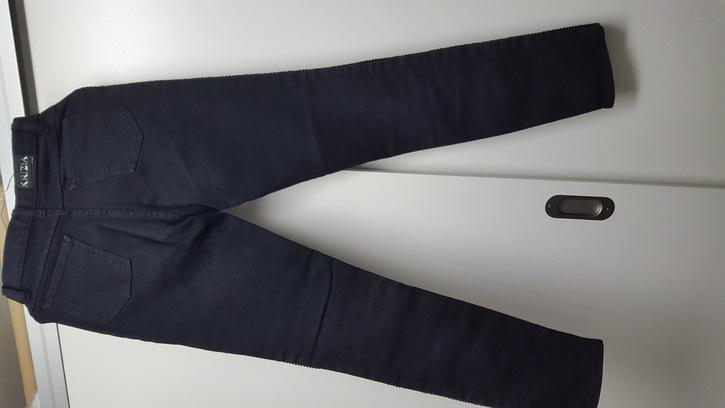 Hose mit Lederfront Kleidung & Accessoires 2
