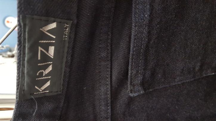 Hose mit Lederfront Kleidung & Accessoires 3