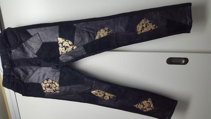 Hose mit Lederfront Kleidung & Accessoires 4