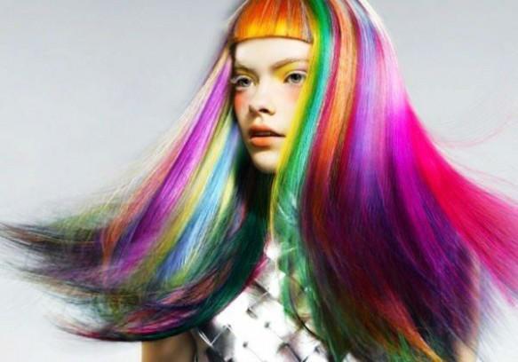 Hot Huez Temporary Hair Chalk - Haarkreide, Tönung, Färben, Farbe - 4 Farben Fasnacht Party Spontan Haarfärbe Frau Kleidung & Accessoires 2