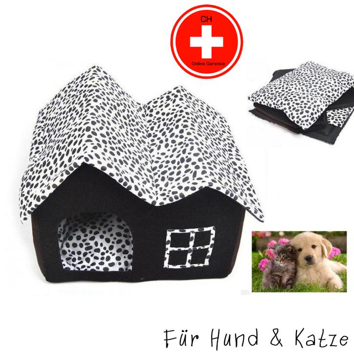Hund Katze Schlafplatz Haus Hundebett Katzenbett zerlegbar Tiere