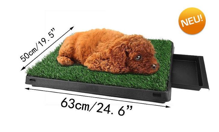 Hunde Klo WC Toilette Hundeklo Hundewc Welpen Klo Welpentoilette Trainingsgerät mit Behälter Stubenrein Garten & Handwerk 3