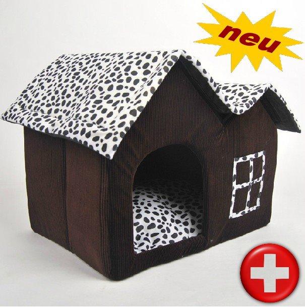 Hundehaus Hundebett Hundehütte aus Stoff Katze Katzen Katzenhaus Tierhaus Bettiji Haus Kuschel Tier Schlafplatz Kuschelhütte Schweiz Haushalt