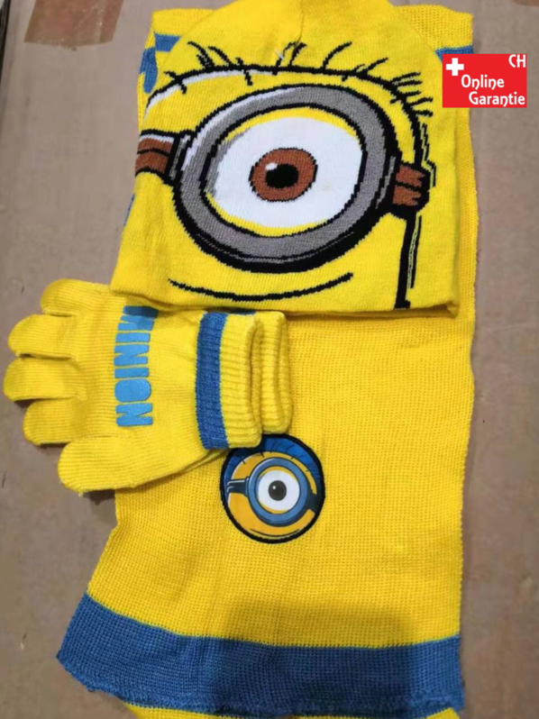Ich – Einfach unverbesserlich Minion Minions Winter Mütze Beanie Kappe Cap Schal Handschh Handschuhe Kind Kinder Fan Baby & Kind