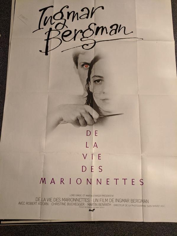 Ingmar Bergman Plakat 1980 CH Großformat Sammeln