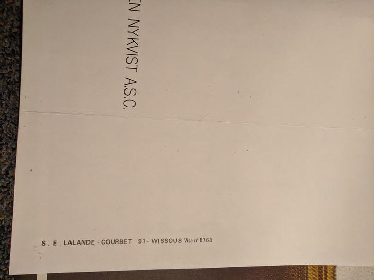 Ingmar Bergman Plakat 1980 CH Großformat Sammeln 4
