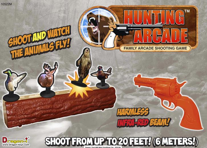 Jagd Schiessbude Arcade Gunslinger Shooting Set Tiere Zielscheibe Target Spielzeug Kinder Familie / Neu Spielzeuge & Basteln