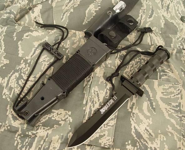 Jungle King 2 Überlebensmesser Survival Messer Jagdmesser Outdoor Lampe Schleudervorrichtung Kompass Sport & Outdoor 3