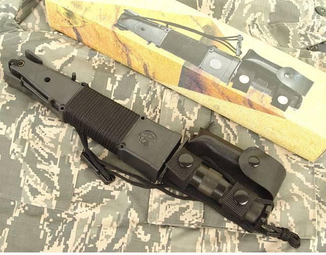 Jungle King 2 Überlebensmesser Survival Messer Jagdmesser Outdoor Lampe Schleudervorrichtung Kompass Sport & Outdoor 4