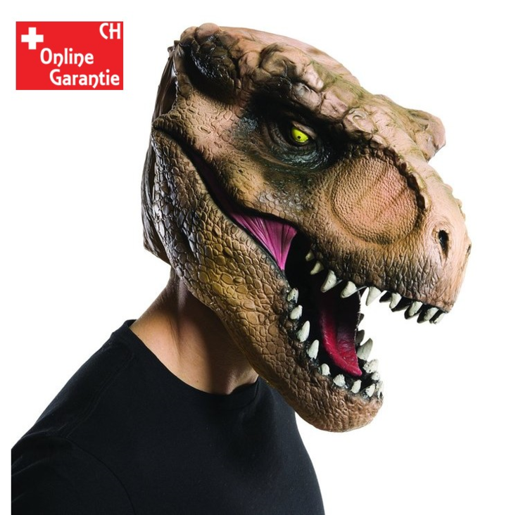 Jurassic World T-Rex Maske Dinosaurier Maske Tyrannosaurus Rex Original Jurassic Park Kleidung & Accessoires