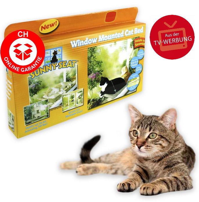 Katzen Schlafplatz Liege Katzenliege Fensterliege Katzensitz Sunny Seat Katze Bett Liege TV Hit NEU Haushalt