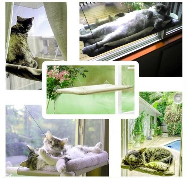 Katzen Schlafplatz Liege Katzenliege Fensterliege Katzensitz Sunny Seat Katze Bett Liege TV Hit NEU Haushalt 4