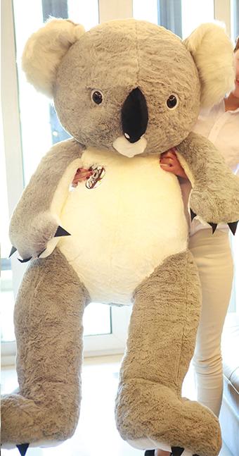 Koala Bär Koalabär Plüsch Plüschtier XXL 140cm 1.4m Koalabärchen Australien Geschenk Kind Kinder Frau Freundin Grau oder Pink  Baby & Kind 2