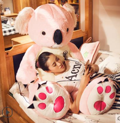 Koala Bär Koalabär Plüsch Plüschtier XXL 140cm 1.4m Koalabärchen Australien Geschenk Kind Kinder Frau Freundin Grau oder Pink  Baby & Kind 3