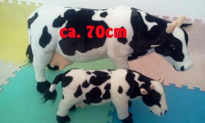 Kuh Plüsch Milchkuh Schwarz Weiss Schwarzweiss XXL 70cm Geschenk Deko Schweiz Milch Bauernhof Spielzeuge & Basteln 2