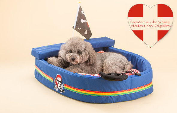 Kuschel Piratenschiff Hund Hunde Katze Schlafplatz Bett Hundebett Katzenbett Hundebett Tierbett Schweiz Haushalt