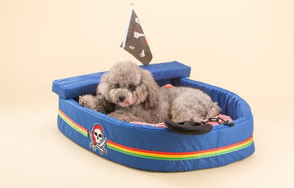 Kuschel Piratenschiff Hund Katze Schlafplatz Bett Hundebett Katzenbett Bettiji Schlafplatz Tierbett Haushalt