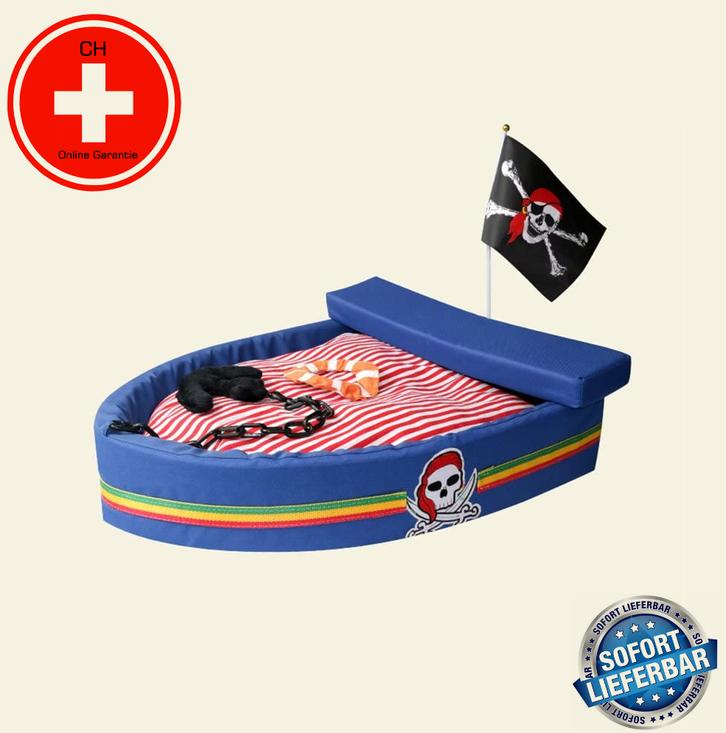 Kuschel Piratenschiff Hund Katze Schlafplatz Bett Hundebett Katzenbett Bettiji Schlafplatz