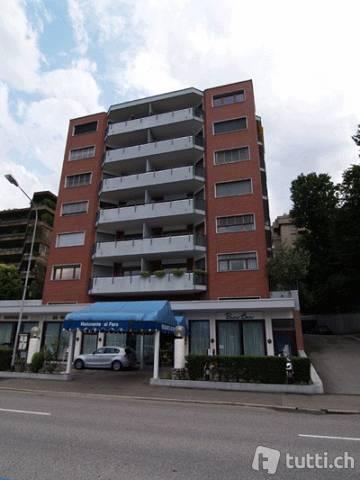 Lugano, Riva Paradiso 36, affitto monolocale arredato Immobilien