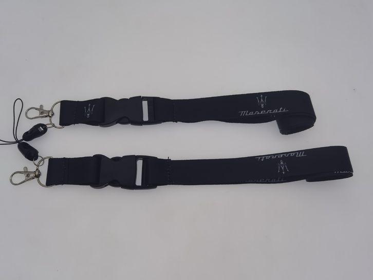 MASERATI Auto Fan Schlüsselband Schlüsselanhänger Auto Accessoire Zubehör Anhänger Band Farbe Schwarz Fahrzeuge 2