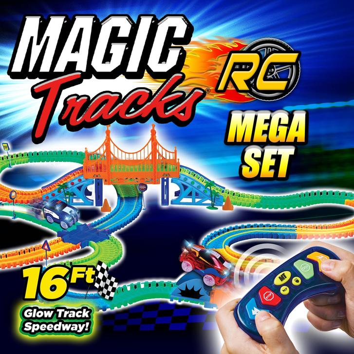 Magic Tracks RC Race Set Mega Ferngesteuertes Spielzeug Glow Auto leuchtet im Dunkeln biegbare Rennstrecke Spielzeug Spielzeuge & Basteln