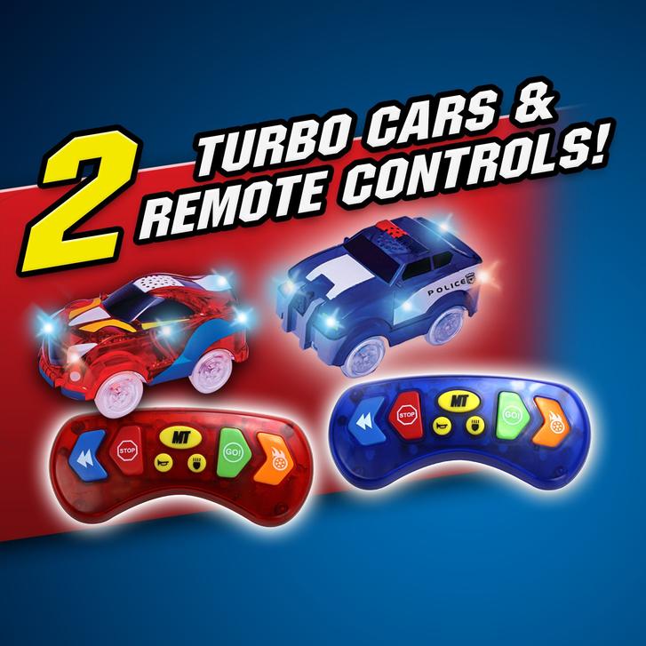 Magic Tracks RC Race Set Mega Ferngesteuertes Spielzeug Glow Auto leuchtet im Dunkeln biegbare Rennstrecke Spielzeug Spielzeuge & Basteln 2