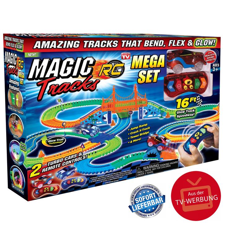 Magic Tracks RC Race Set Mega Ferngesteuertes Spielzeug Glow Auto leuchtet im Dunkeln biegbare Rennstrecke Spielzeug Spielzeuge & Basteln 4