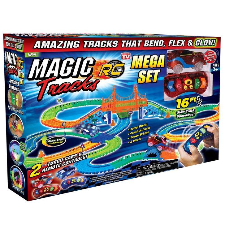 Magic Tracks Turbo RC Mega Race Set Rennbahn Glow LED RC Spielzeug Sonstige 4