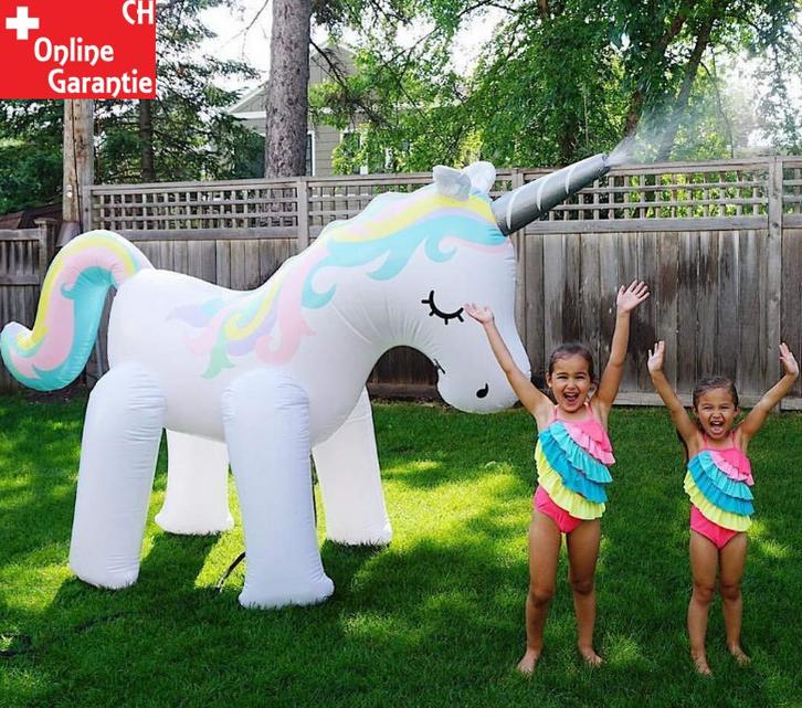 Mega Einhorn Sprinkler Wasser Spielzeug Sommer Garten Kinder Wasserspielzeug Badi Schweiz Mädchen Kind Sport & Outdoor 2