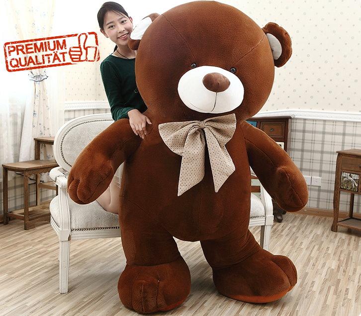 Mega Riesen Teddy Teddybär Plüsch Bär Plüschbär Kuschelbär Plüschteddy Bärli Geschenk Hit 210cm 2.1m Spielzeuge & Basteln