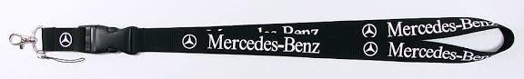 Mercedes-Benz Benz Auto Fan Schlüsselband Schlüsselanhänger Auto Accessoire Zubehör Anhänger Band Farbe Schwarz Sonstige