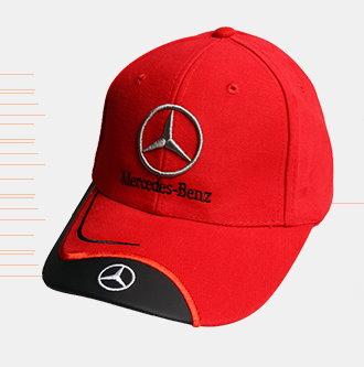 Mercedes-Benz Benz Cap Kappe Mütze Fan Shop diverse Farben Baumwolle Braun Schwarz Rot Blau  Kleidung & Accessoires 3