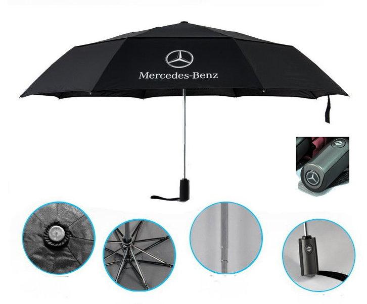 Mercedes-Benz Fan Regenschirm Benz Taschenschirm Lifestyle Outdoor Öffnungsautomatik Schutzhülle Schweiz Kleidung & Accessoires