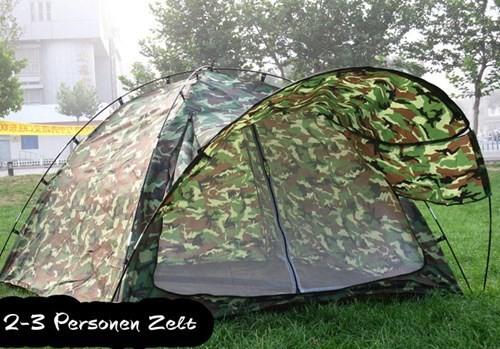 Militär Outdoor Camping Zelt 3 Personen Openair Angler Jäger Vorzelt Sport & Outdoor 2