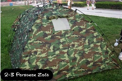 Militär Outdoor Camping Zelt 3 Personen Openair Angler Jäger Vorzelt Sport & Outdoor 3