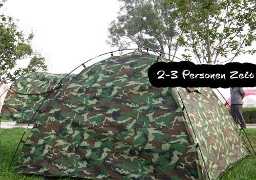 Militär Outdoor Camping Zelt 3 Personen Openair Angler Jäger Vorzelt Sport & Outdoor 4